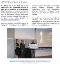 Premio LA3NET para Andreas Döpp